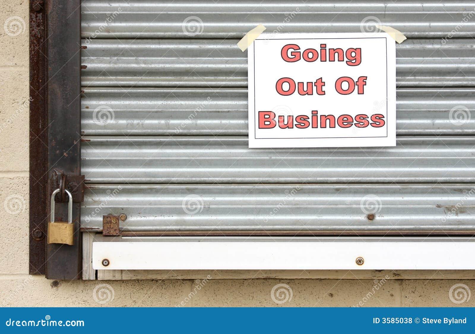 Erlöschen des Geschäfts