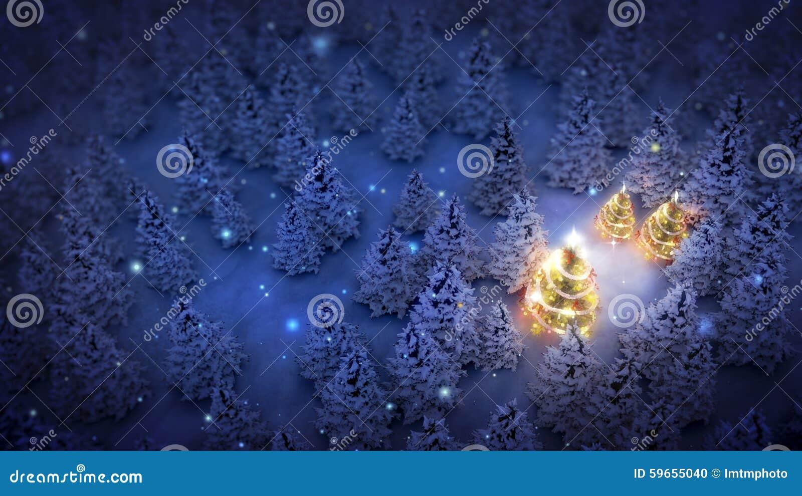 Erleichterte Weihnachtsbäume im Kiefernholz