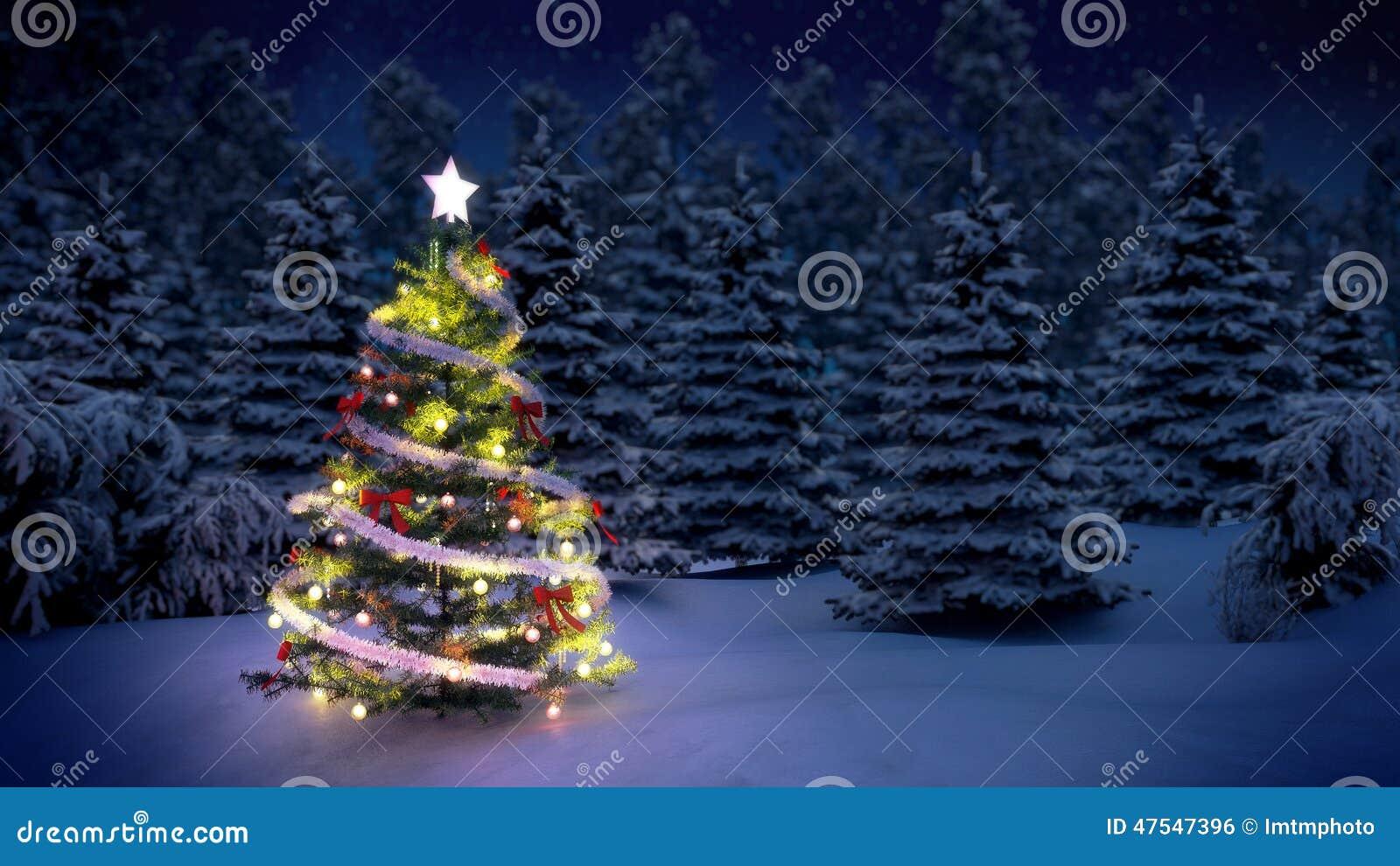 Erleichterter Weihnachtsbaum
