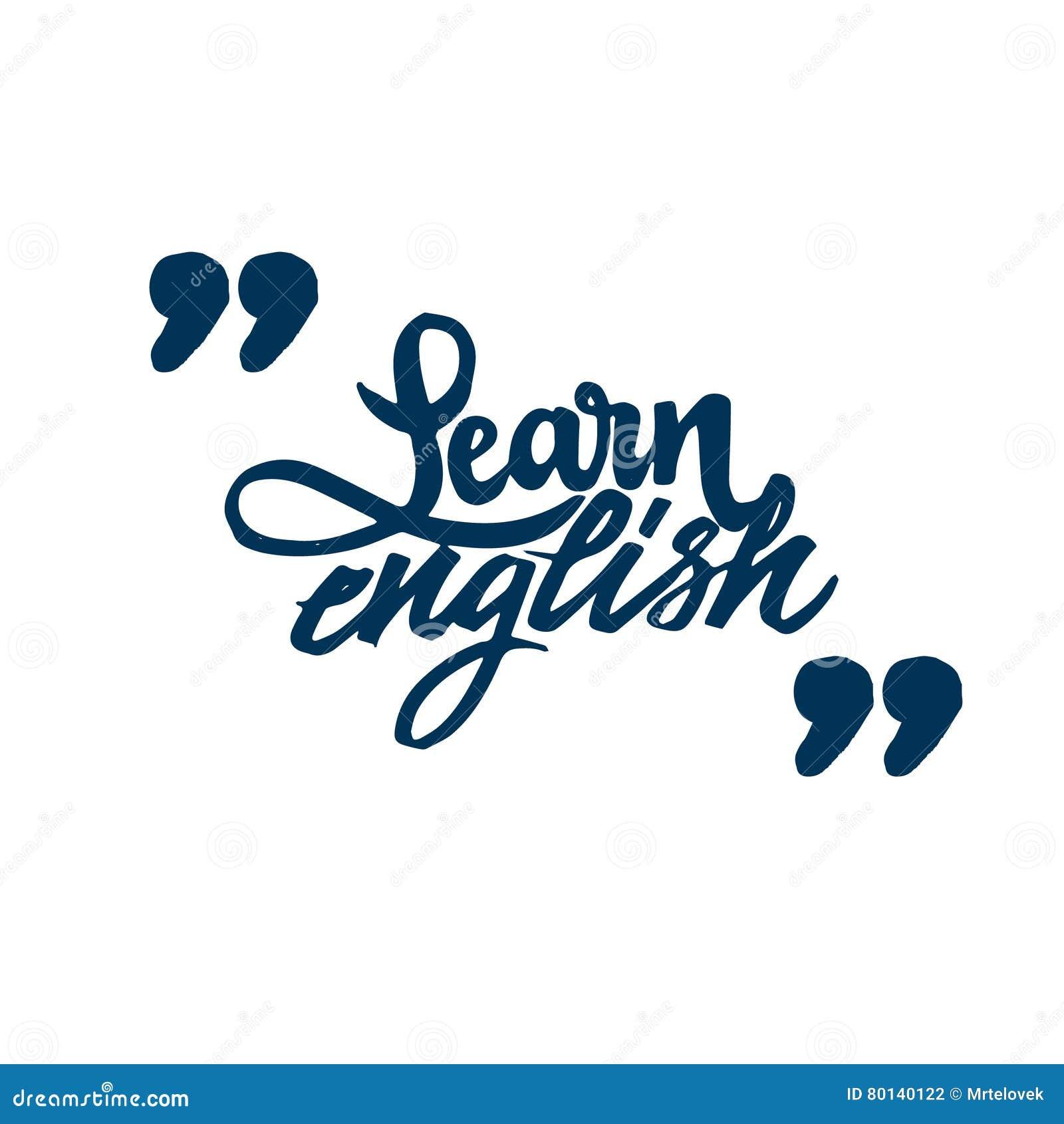 Erlernen Sie Englisch Kalligraphischer Guss Einzigartige