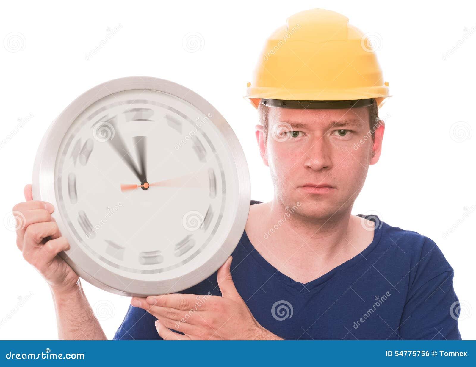 Ernste Bauzeit (spinnende Uhrzeigerversion)