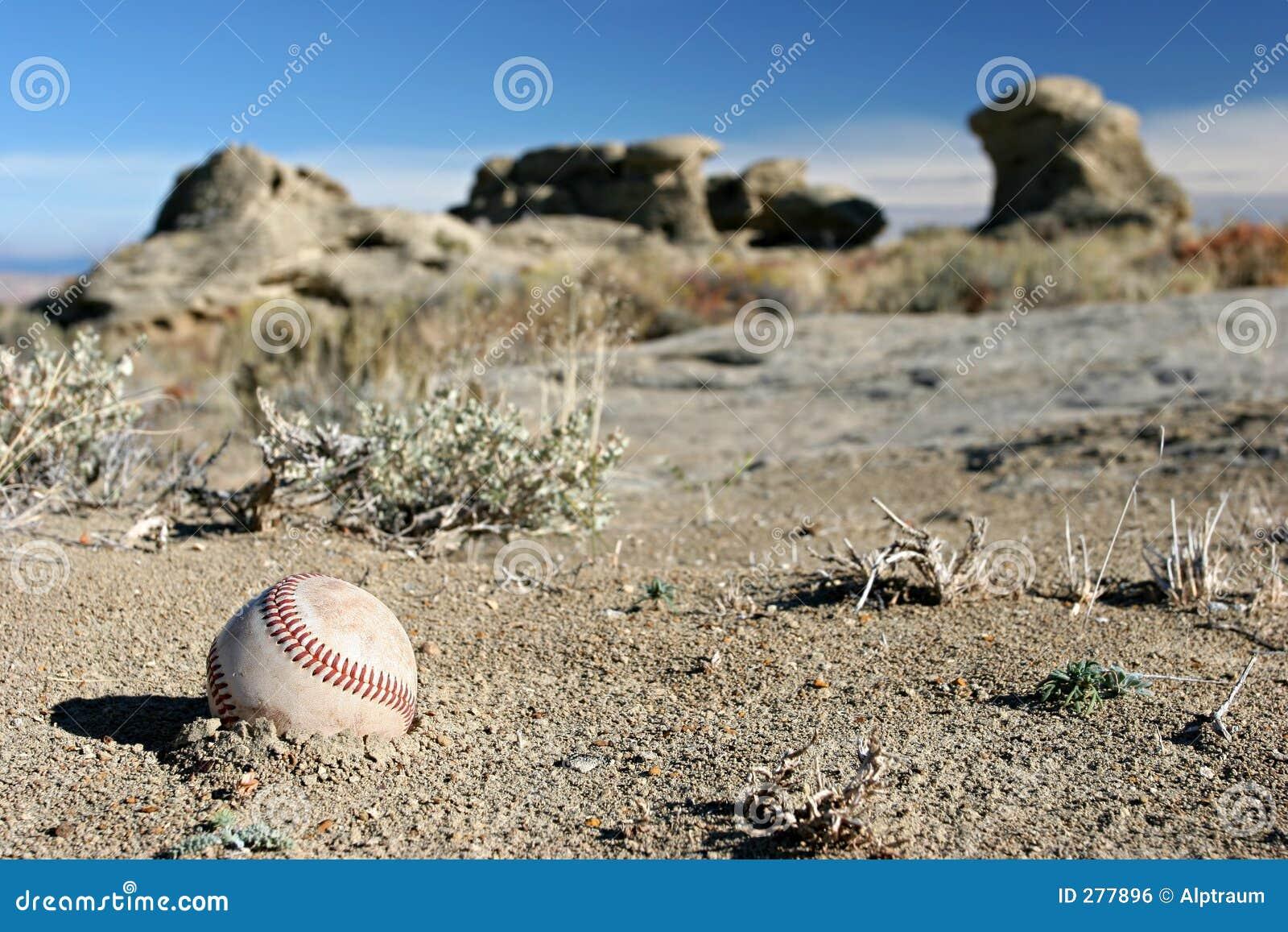 Ernstig verloren honkbal