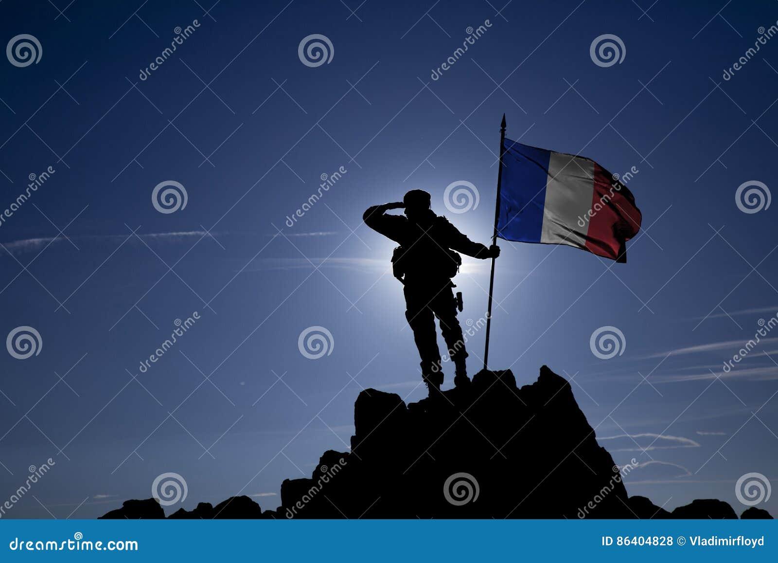 Eroberer mit einer Flagge