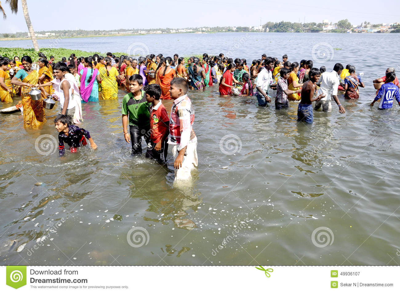 Erode Cauvery River Local Festival Editorial Photography - Image ...