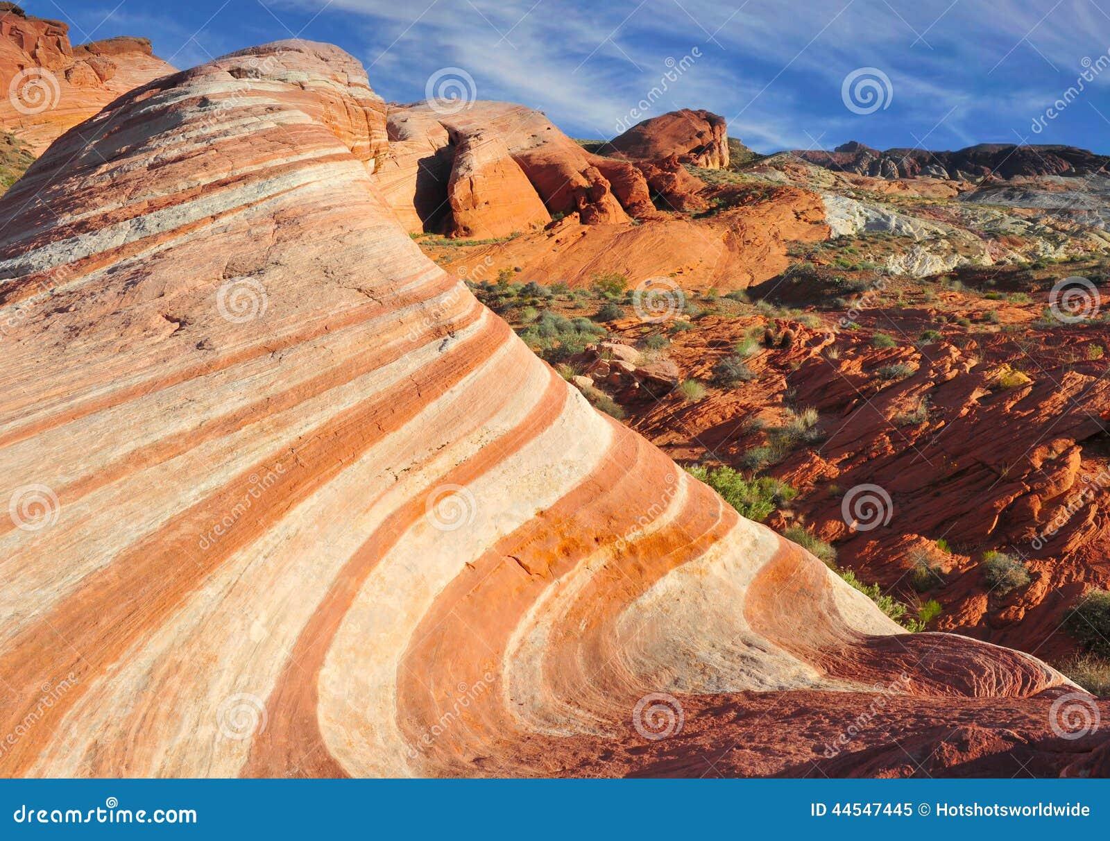 ... , Las Vegas, Nevada. redrock arid landscape desert under blue sky