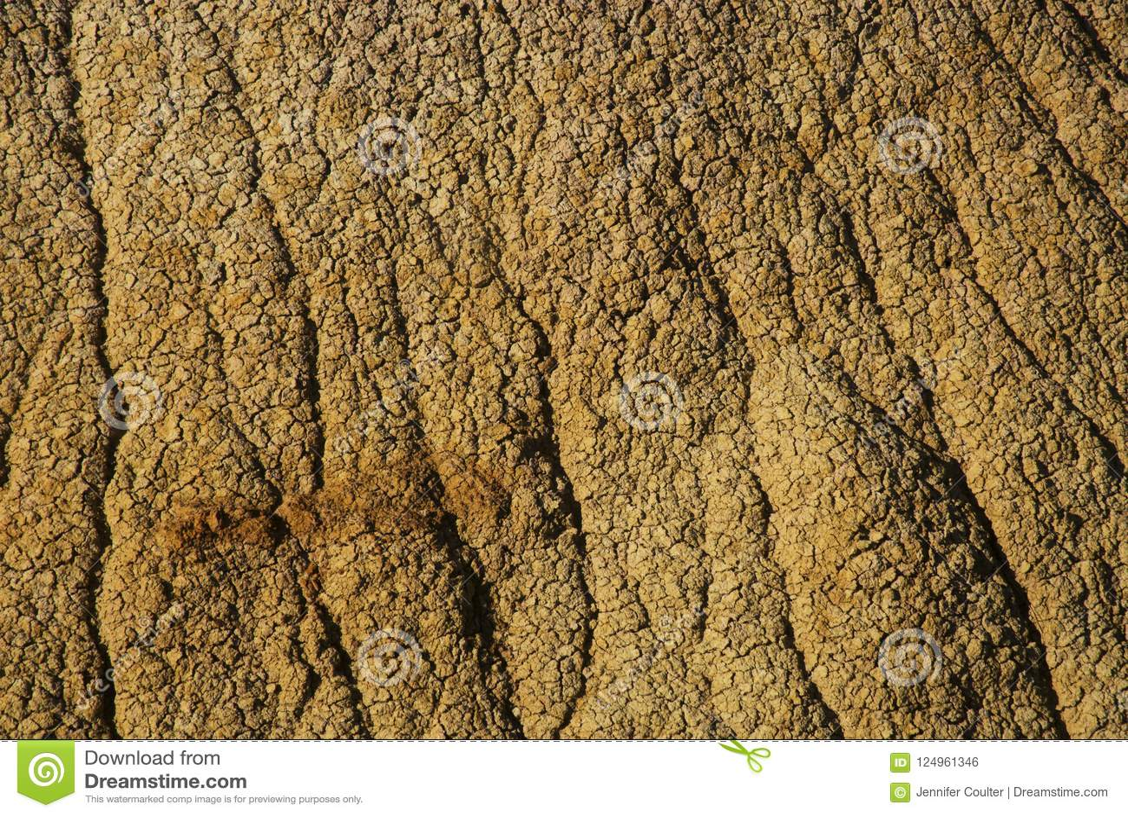 Erodera texturer av Badlandsnationalparken South Dakota