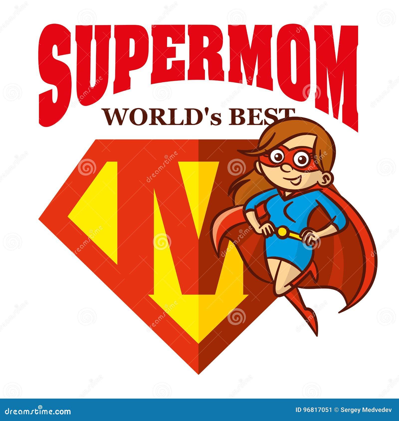 Eroe eccellente Logo Supehero Letters della mamma