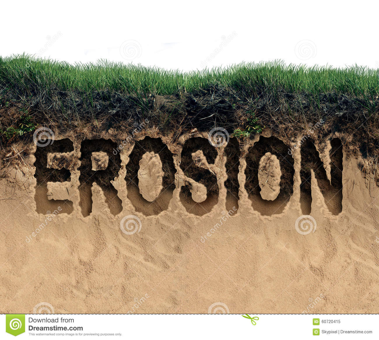 Erosion stock illustration image 60720415 for Words for soil
