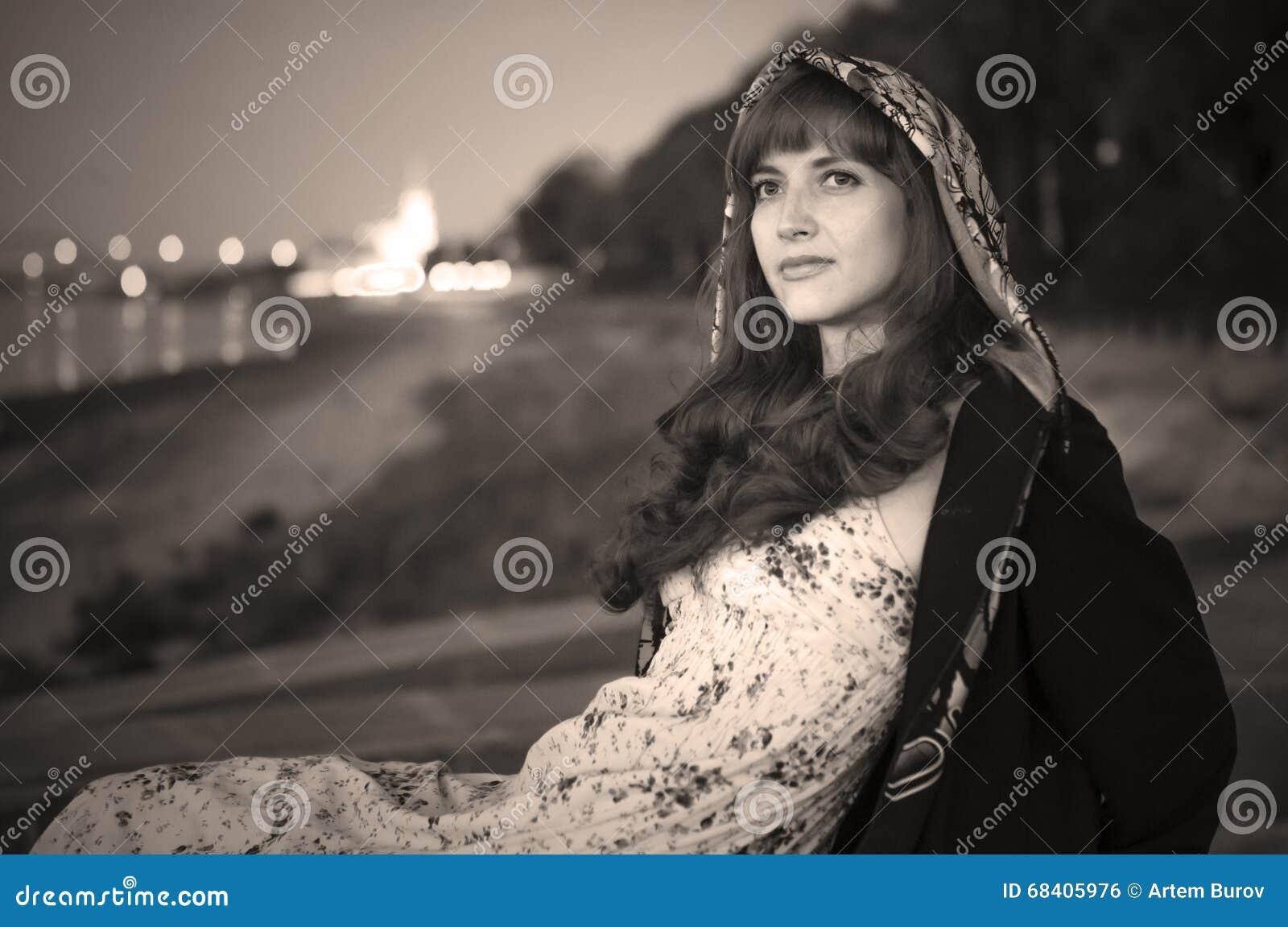 Erotic Girl On Quay Of River Volga Stock Photo - Image of ...