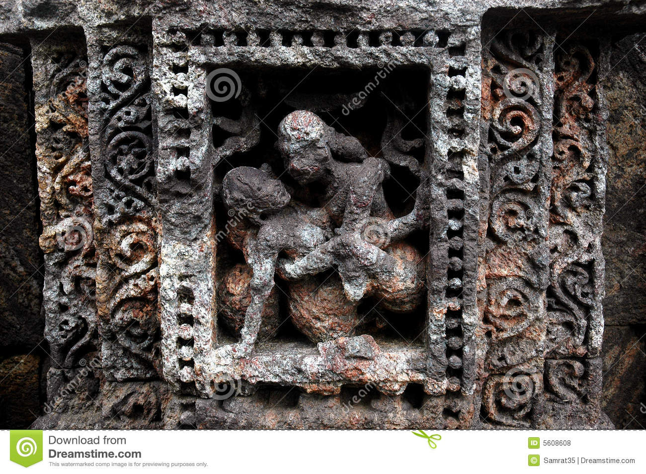 Erotic Indian Temple Sculpture Stock Photo - Image Of Sandstone, Imagery 5608608-4699