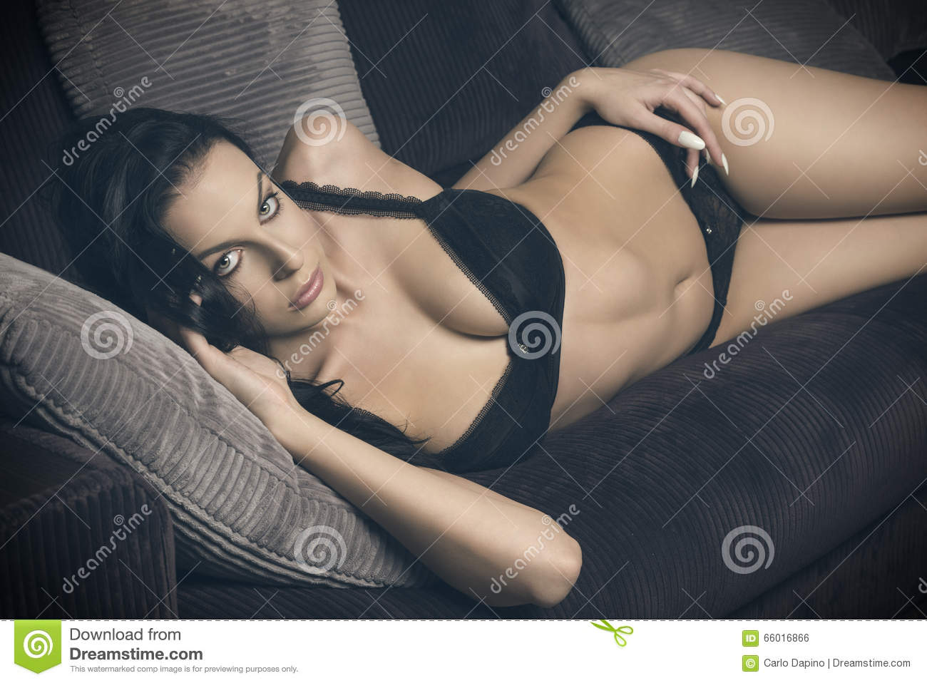 Enjoyable Erotic Woman Lying On Sofa Stock Photo Image Of Lingerie Uwap Interior Chair Design Uwaporg
