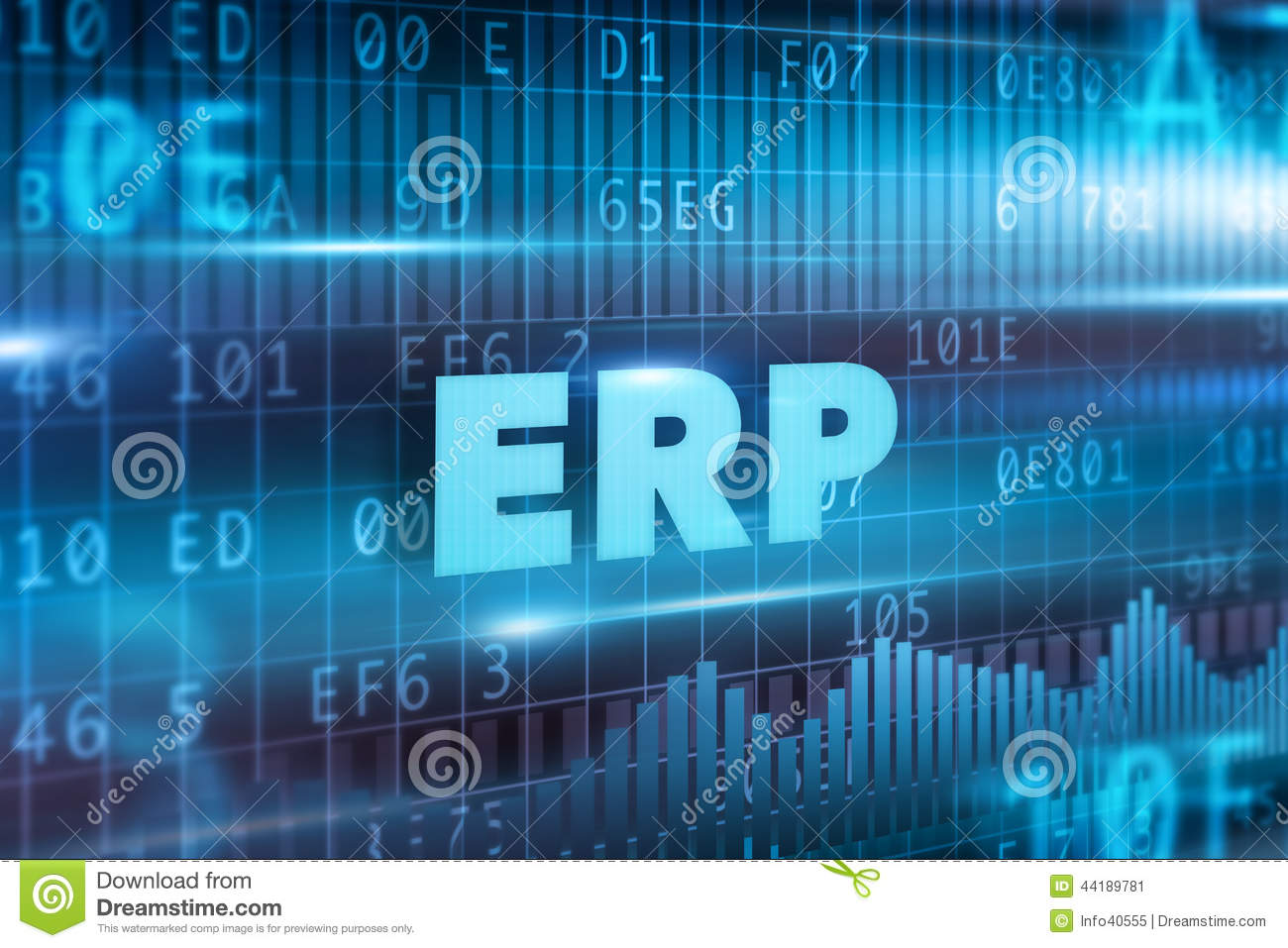 Erp Concept Stock Illustration Illustration Of