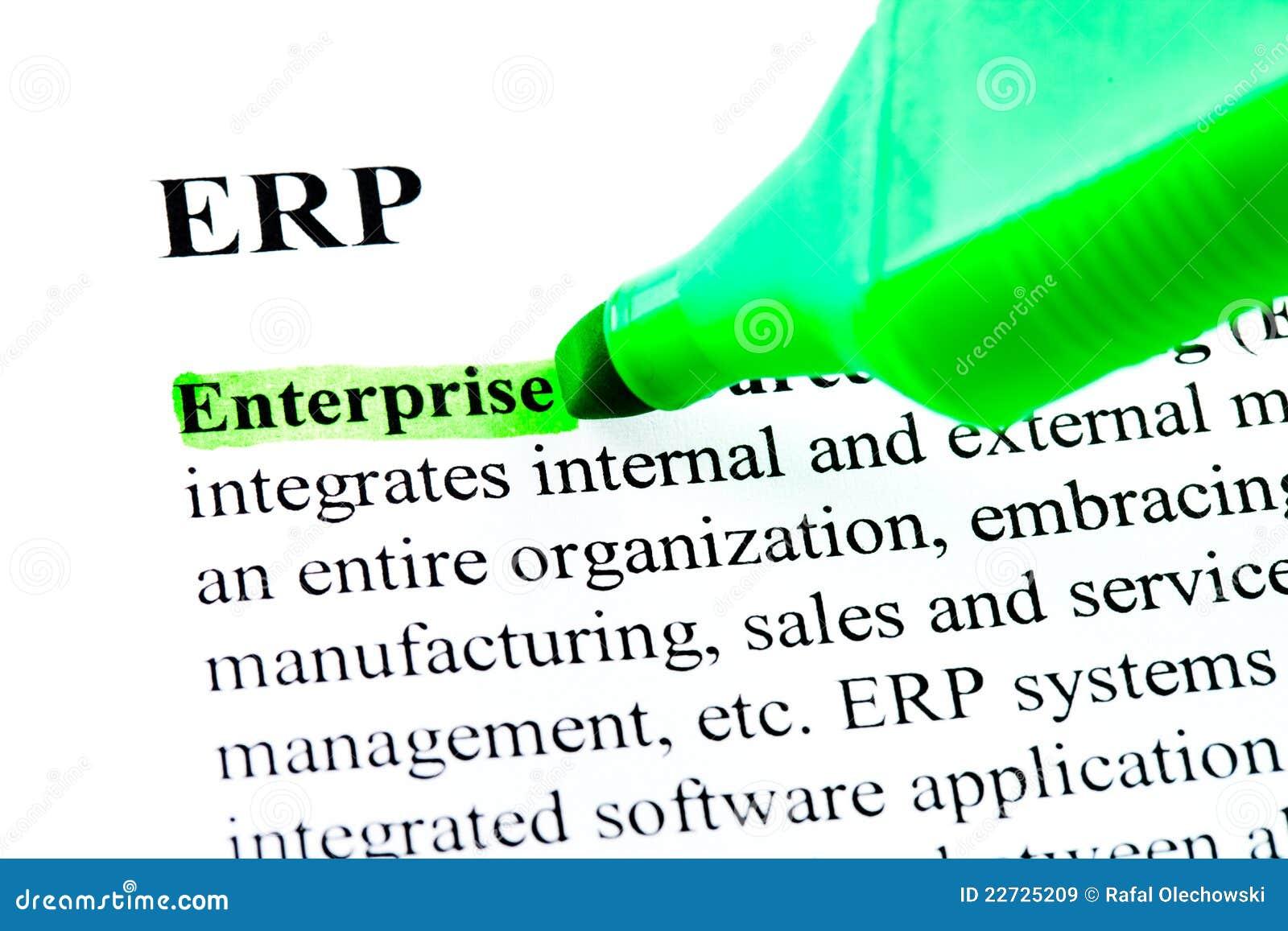 enterprise resource planning definition pdf