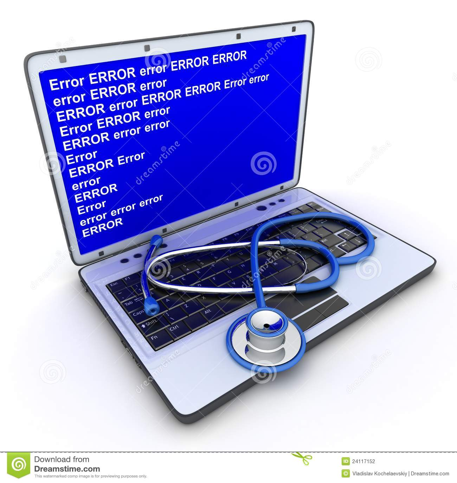 Erreur d ordinateur portatif