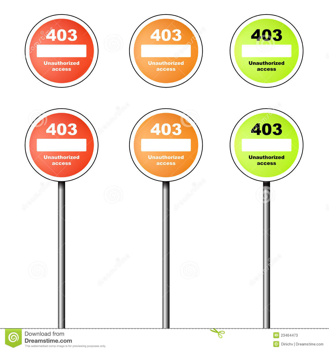 403 Forbidden: Error 403 Icon And Sign Cartoon Vector