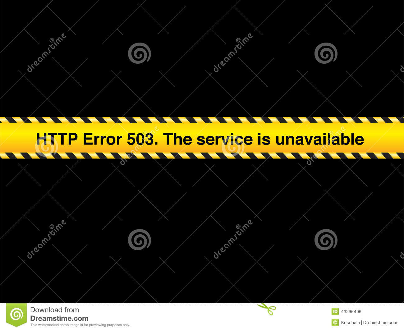 503 error stock illustration  Illustration of symbol - 43295496