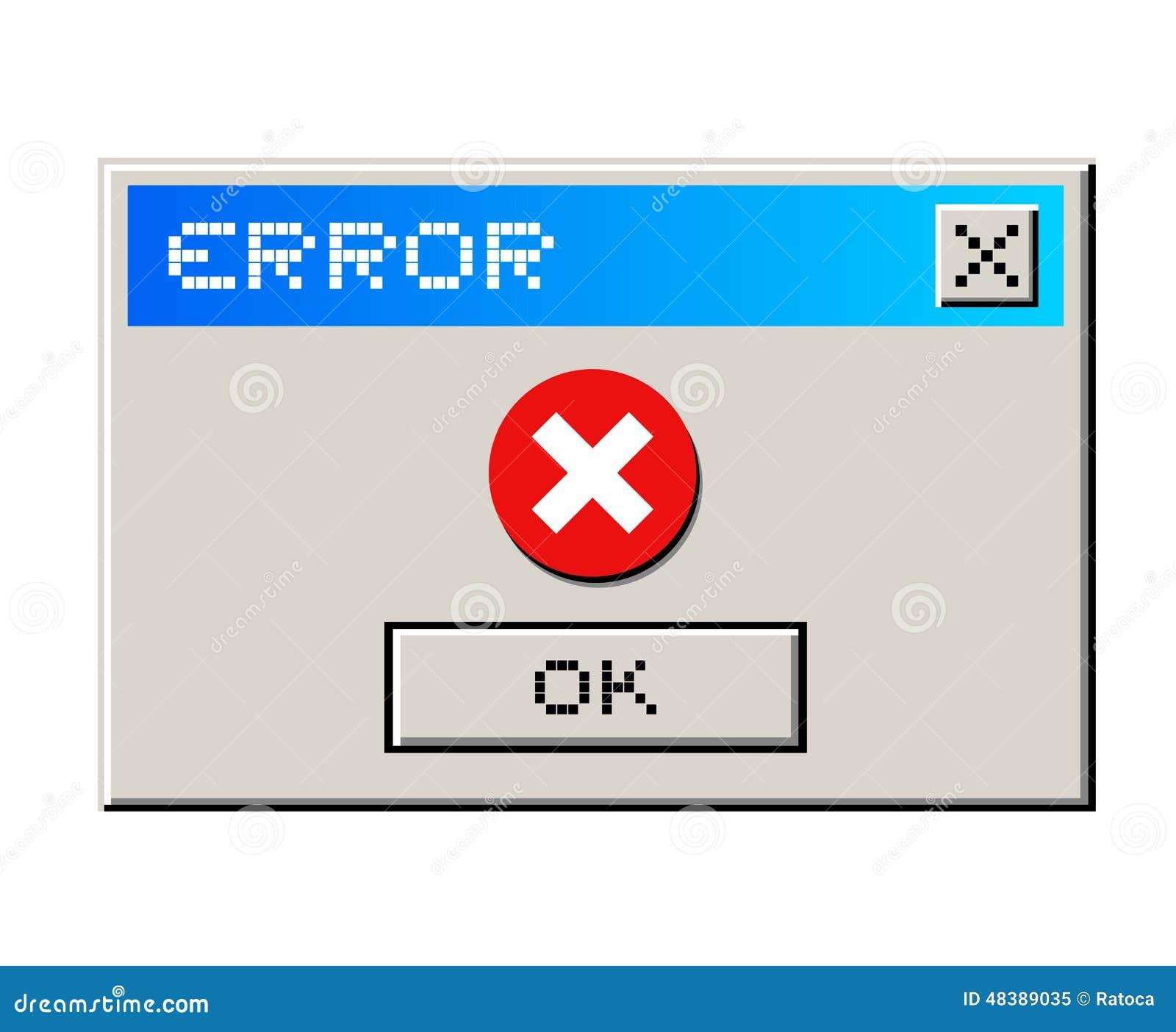 Error Message Stock Vector - Image: 48389035