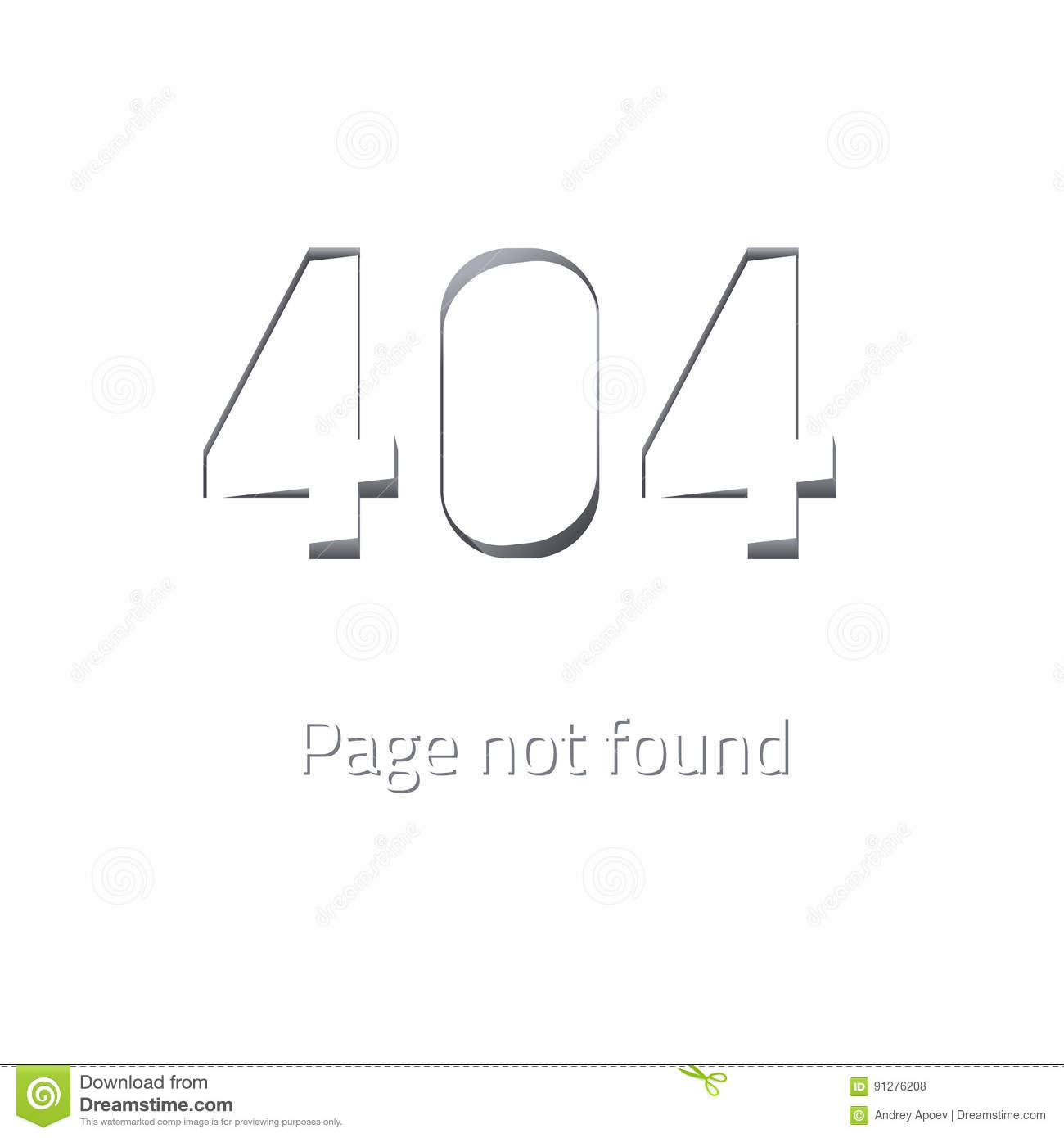 error 404 page not found  stock vector  image of repair