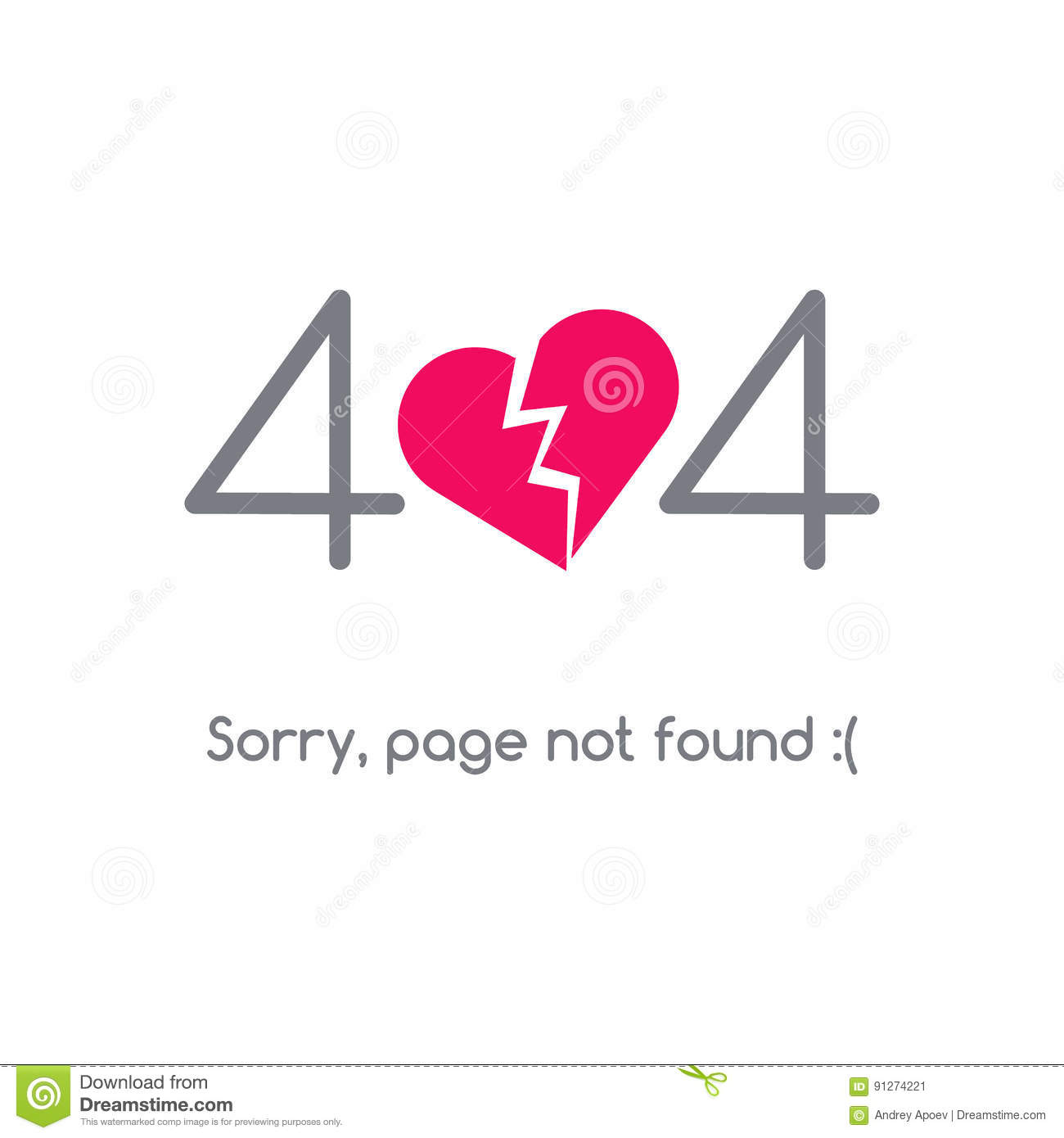 Error 404 Page Not Found Stock Vector Illustration Of Element
