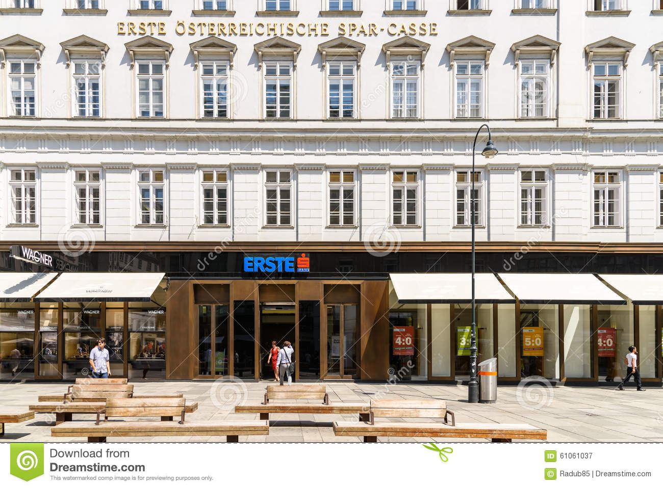 Erste Group Bank Ag In Vienna Editorial Photography