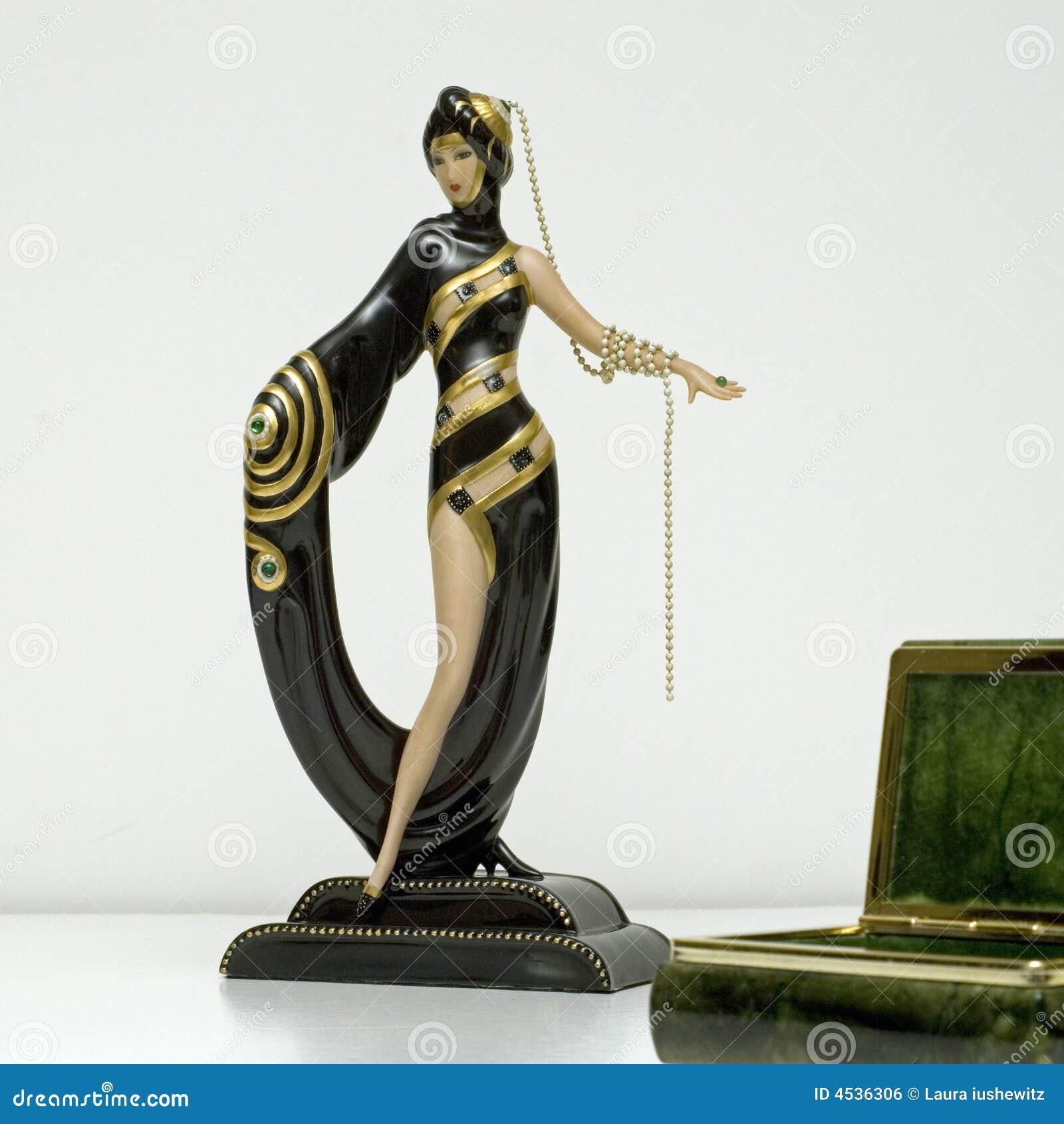 erte figurine deco square royalty free stock image image 4536306. Black Bedroom Furniture Sets. Home Design Ideas