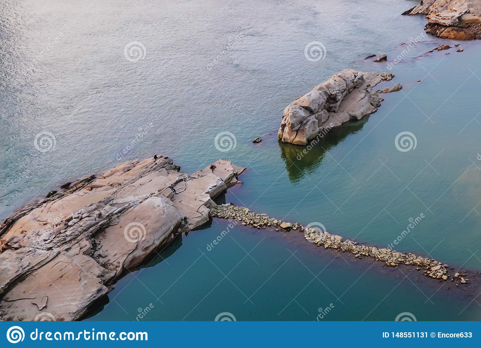 Ertsader op de Yangtze-Rivier