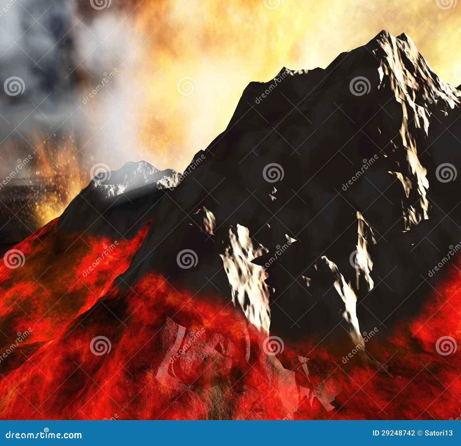 Download Erupção vulcânica ilustração stock. Ilustração de poeira - 29248742