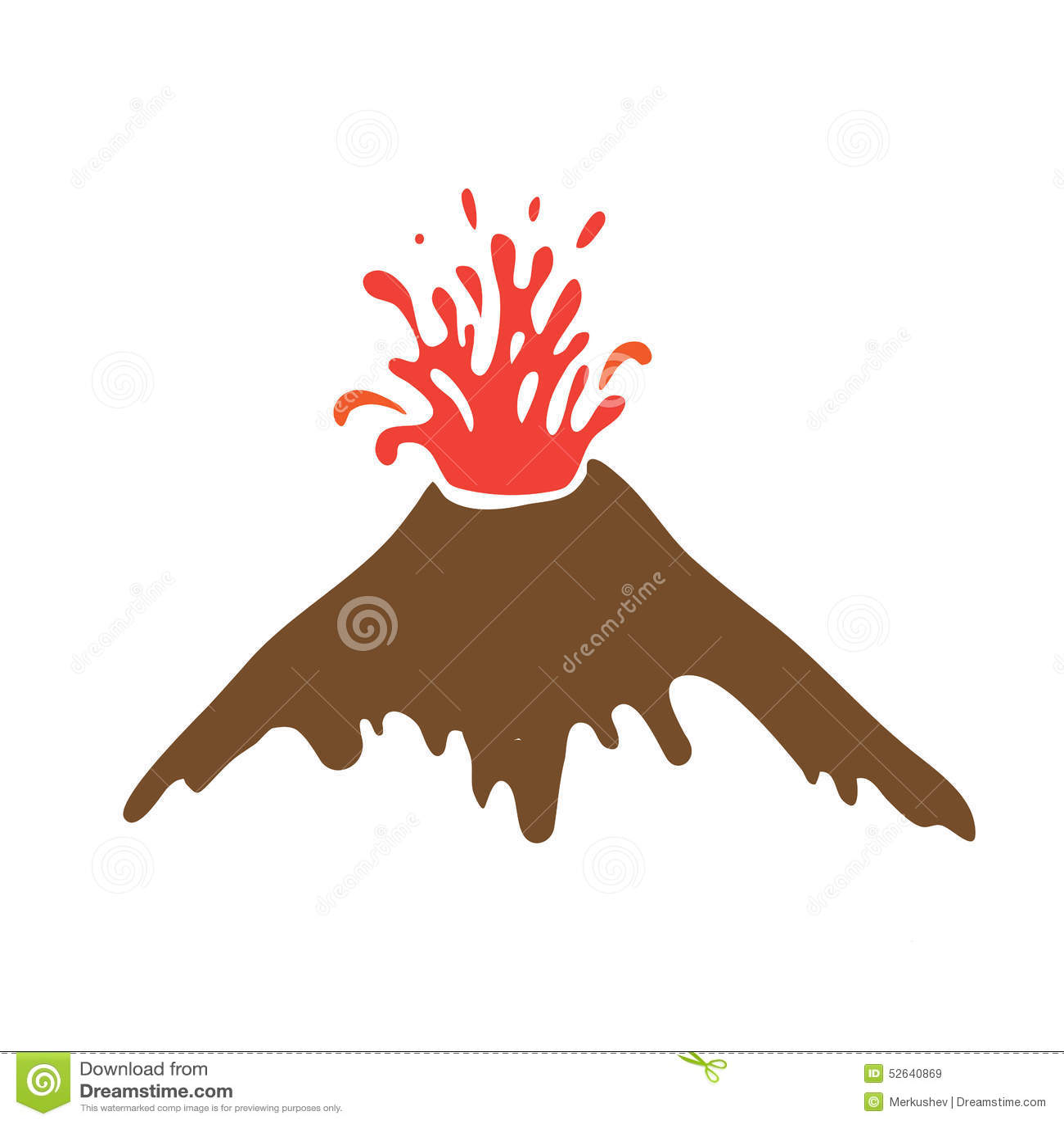 Volcano Symbol Eruption Of A Volcano,...