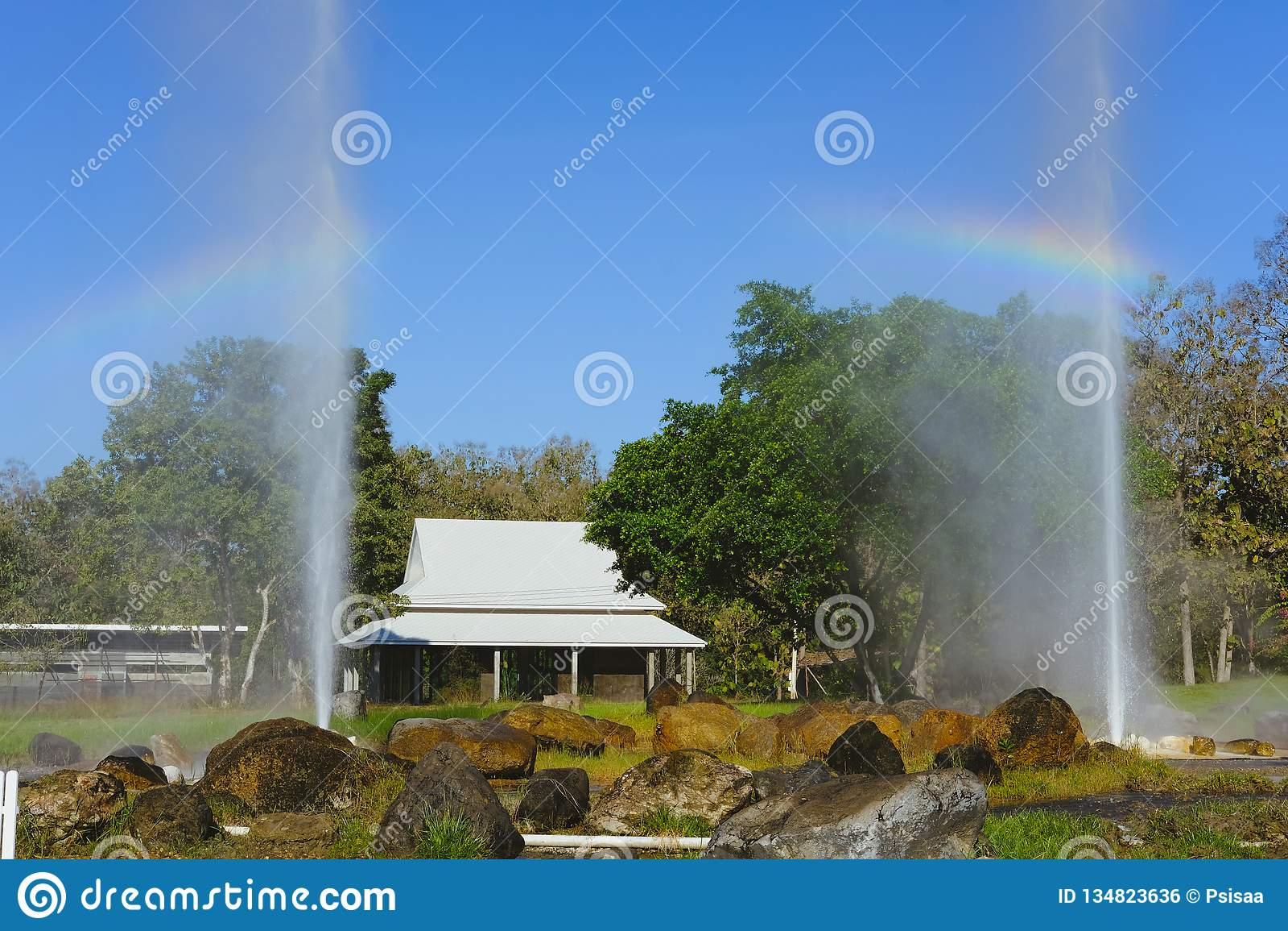 Eruzione del geyser E
