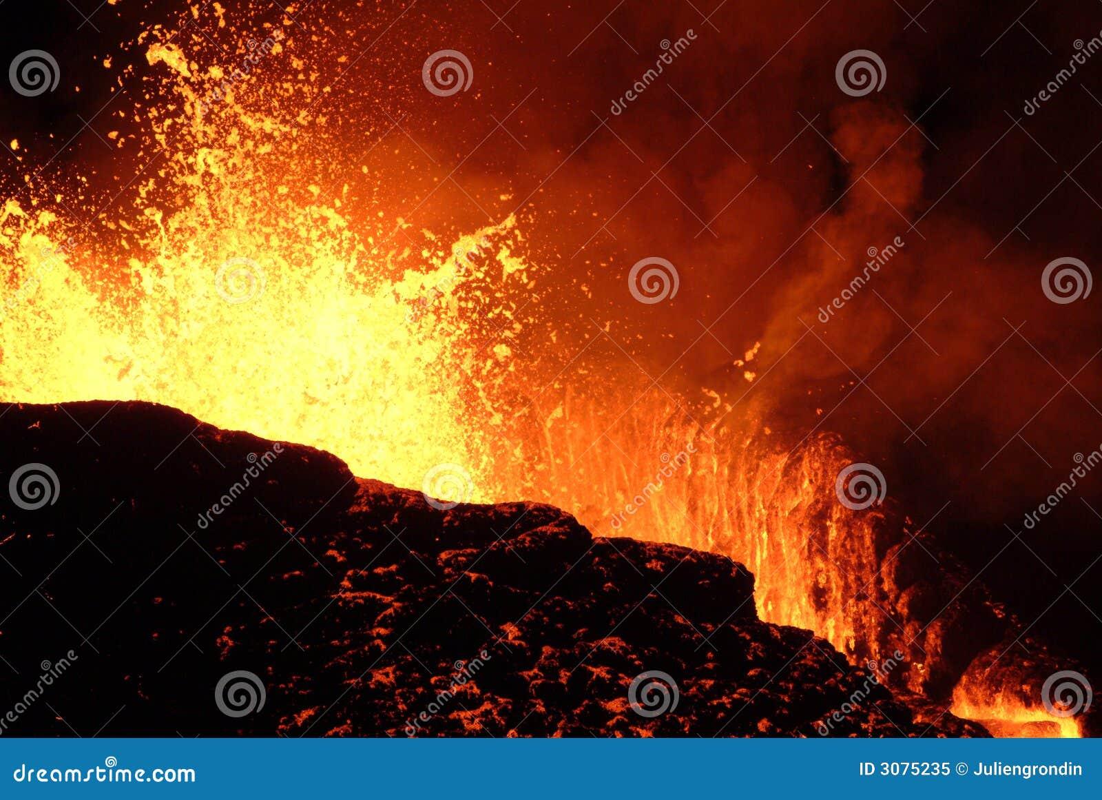 Eruzione del vulcano