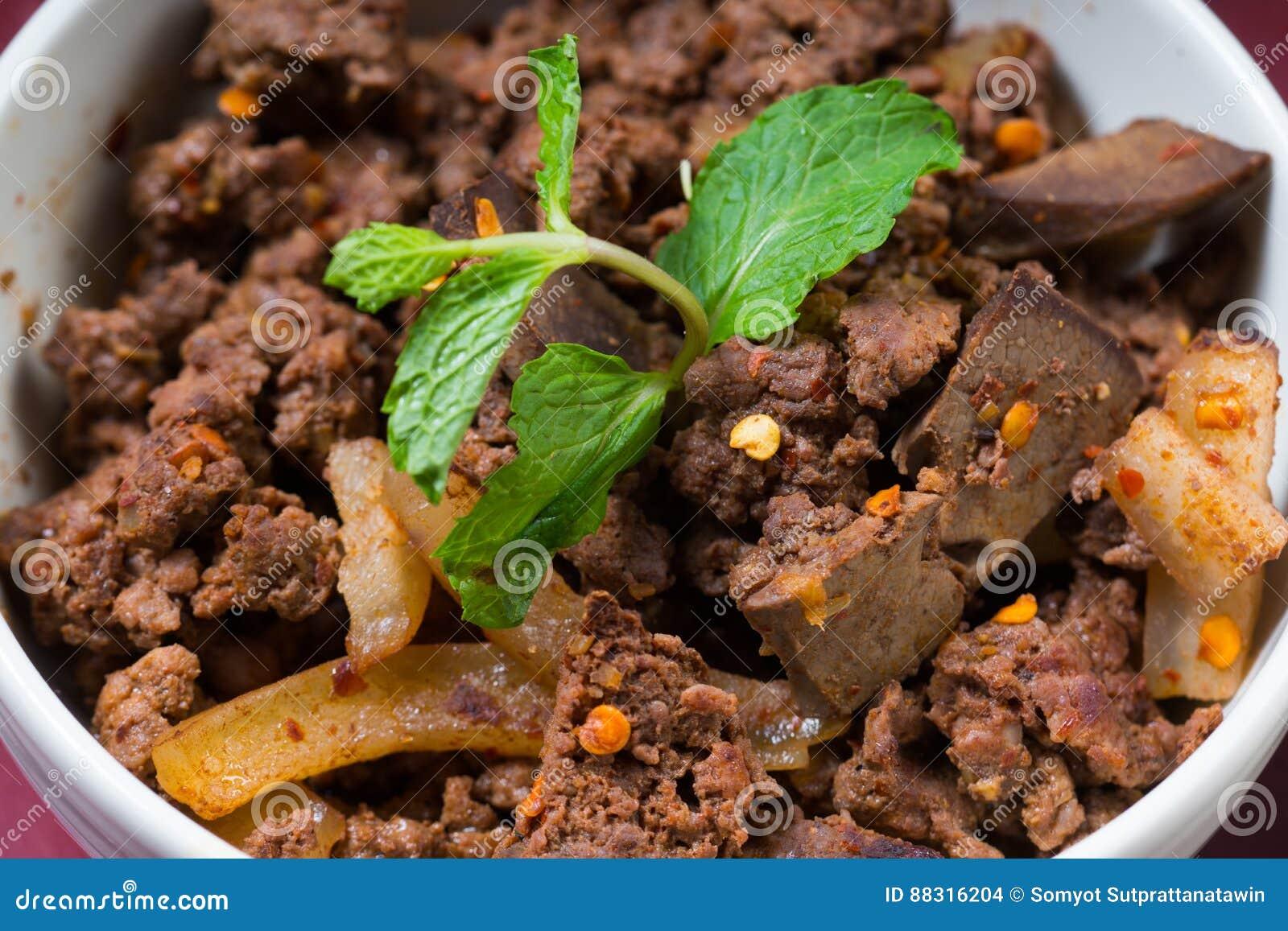 Erva misturada do alimento tailandês picante