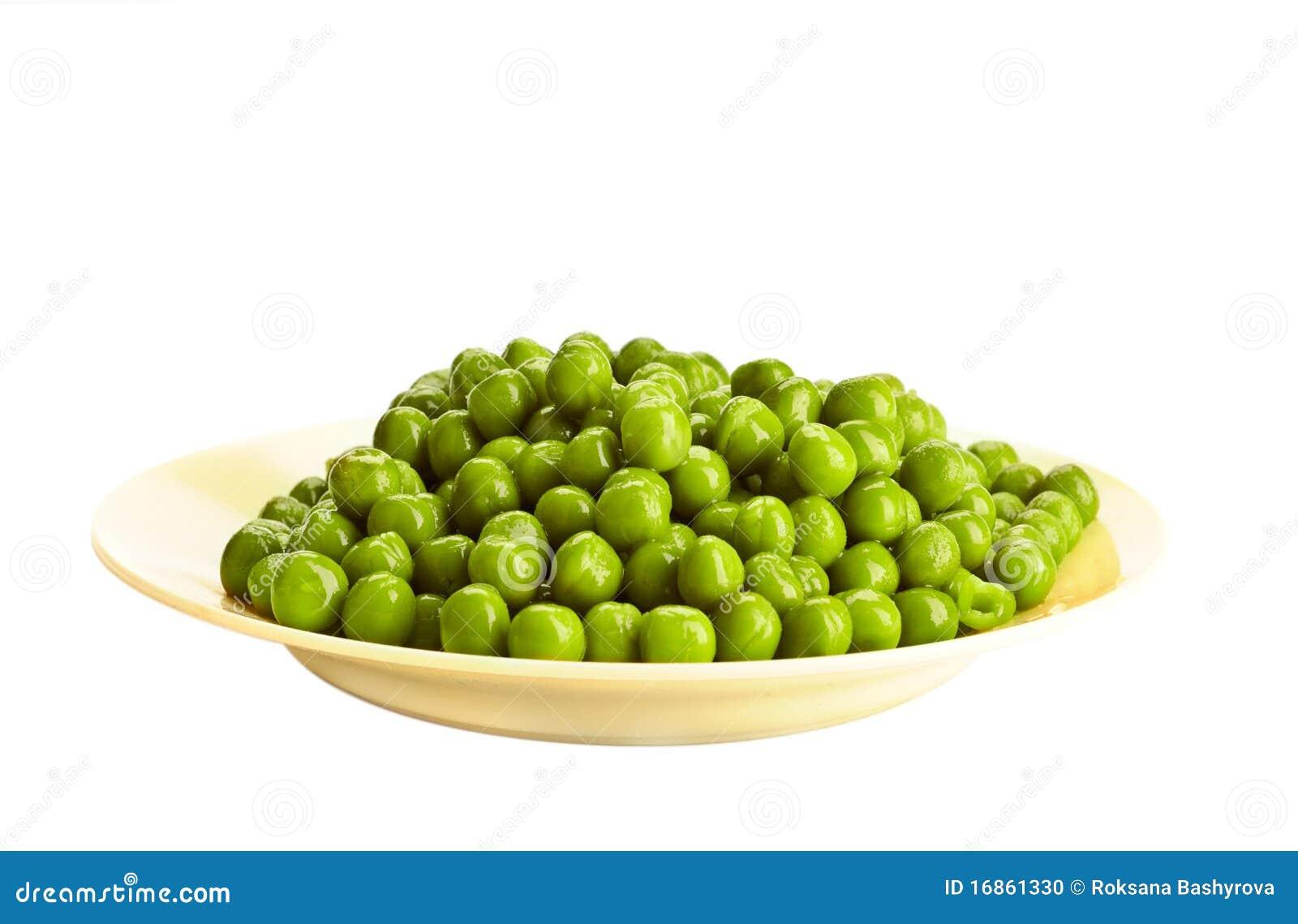 Ervilha verde enlatada