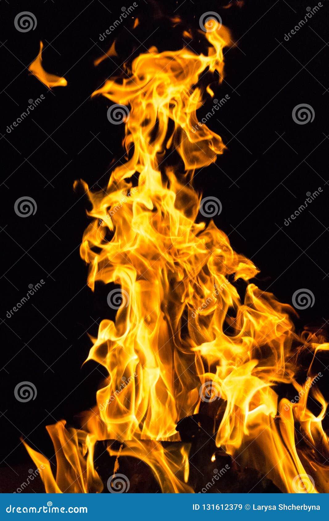 Erwärmungsfeuer in der Kampagne