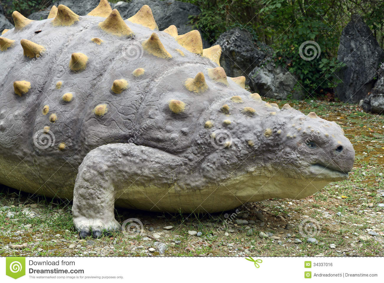 Eryops dinosaur, an extinct prehistoric semi-aquatic predator with a ...