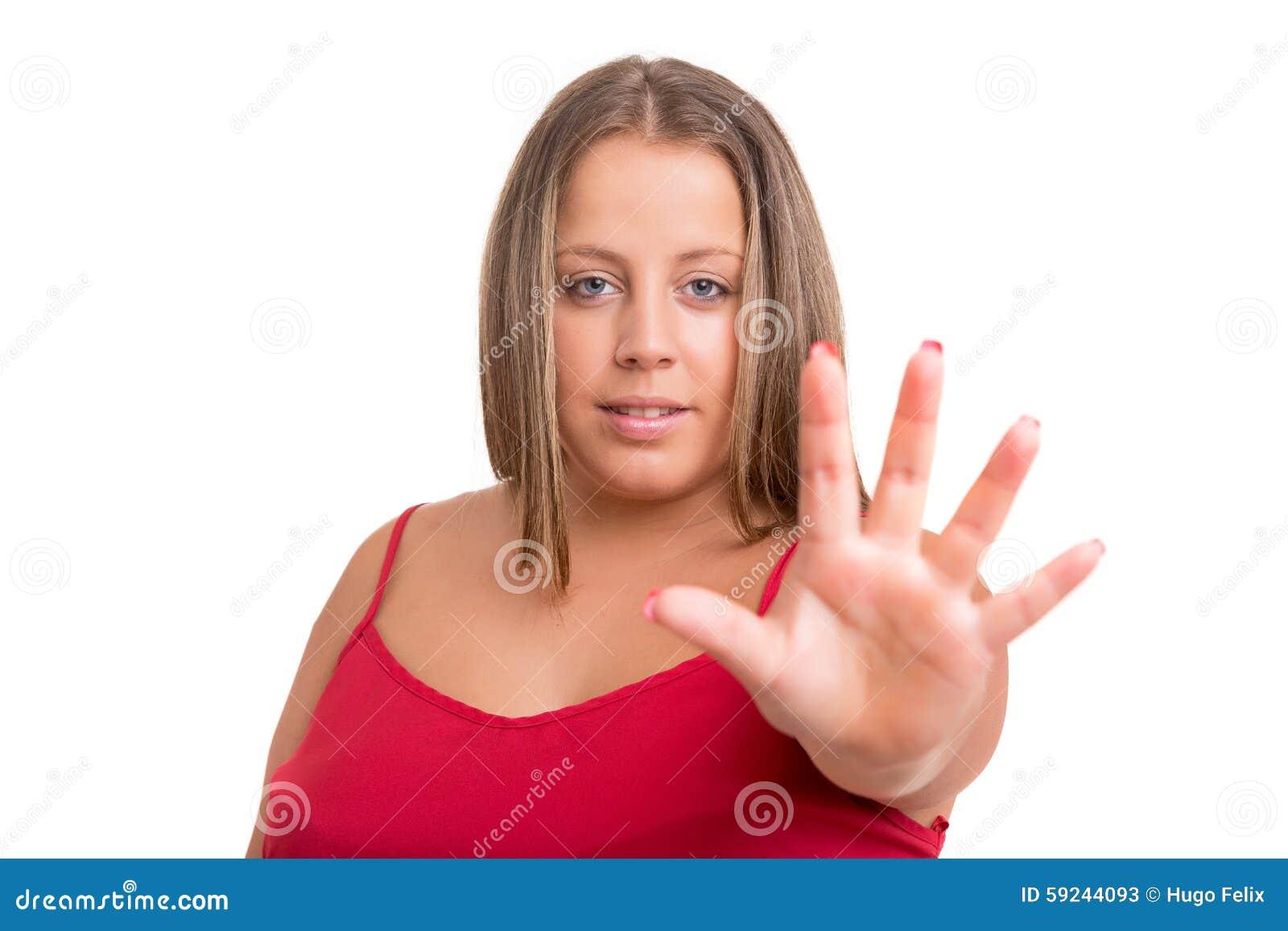 Download ¡Es Decir! ¡No Más De Comida Basura! Imagen de archivo - Imagen de mano, negativo: 59244093