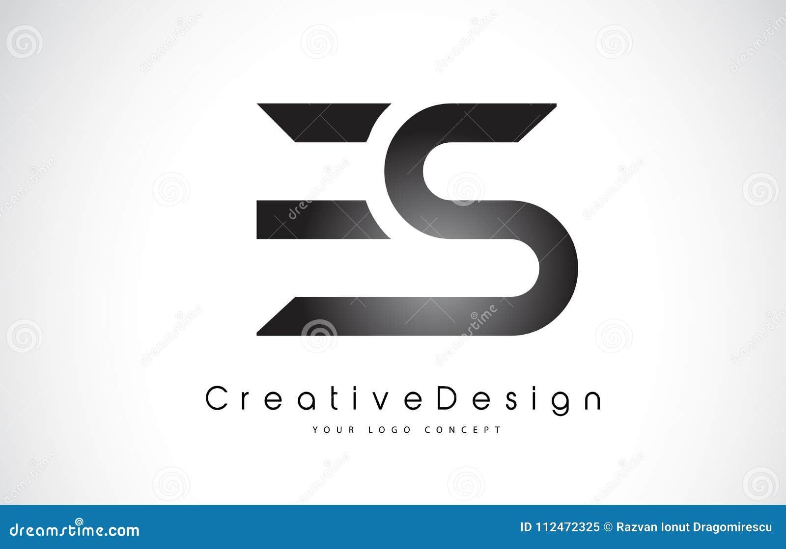 ES E S listu loga projekt Kreatywnie ikony listów Nowożytny wektor L