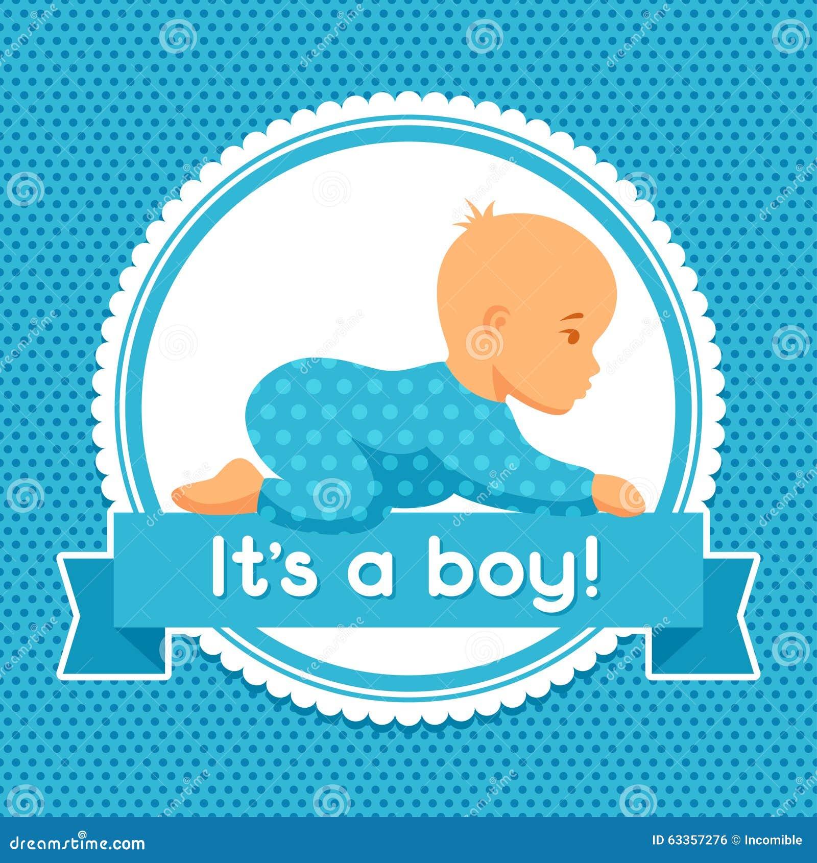 Royalty Free. Download Es Ist Ein Junge Babyparty Einladung ...