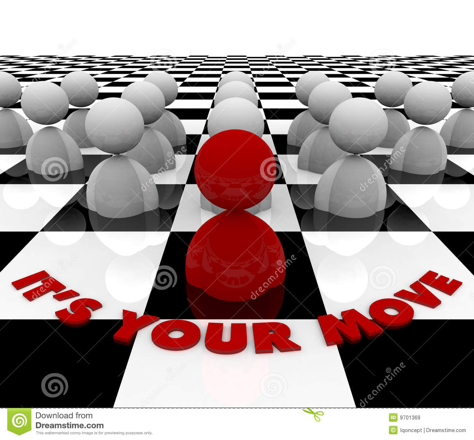 Es su movimiento - tarjeta de ajedrez
