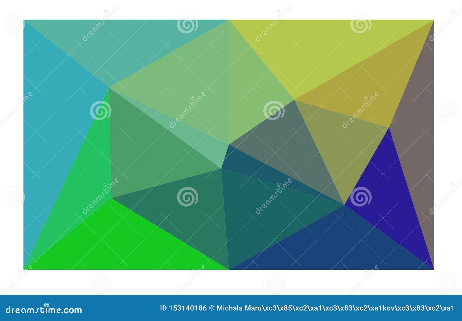 Es un fondo brillantemente coloreado con los triángulos