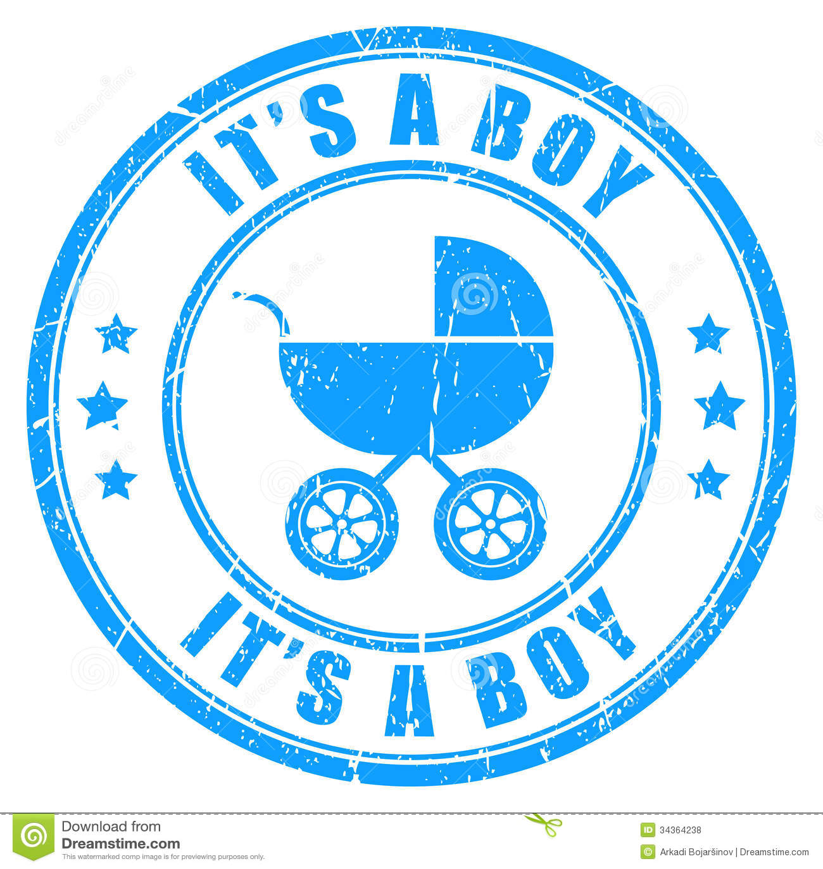 Es un sello del vector del muchacho