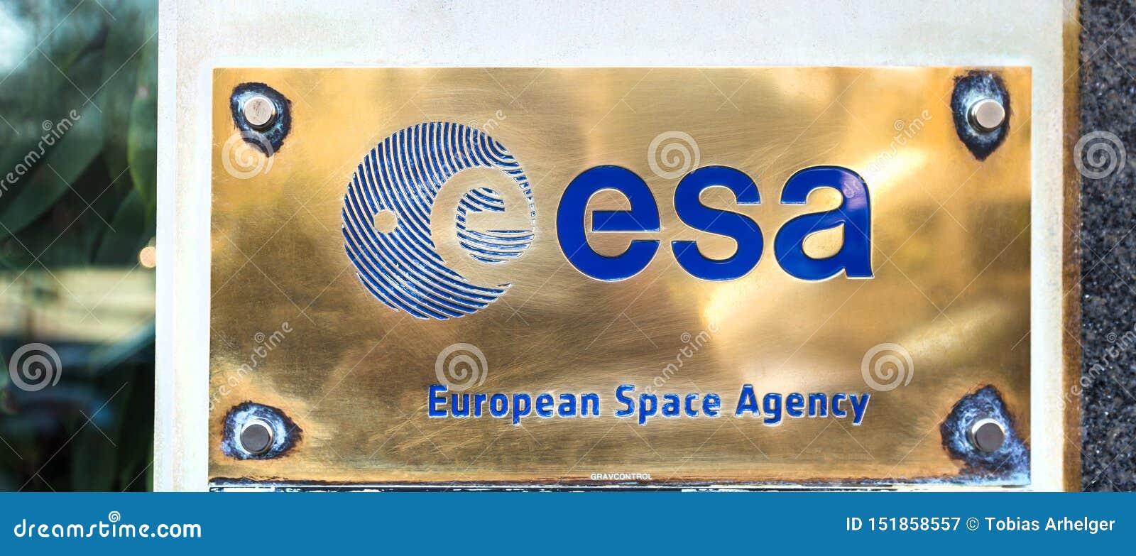 Esa european space agency sign in brussels belgium