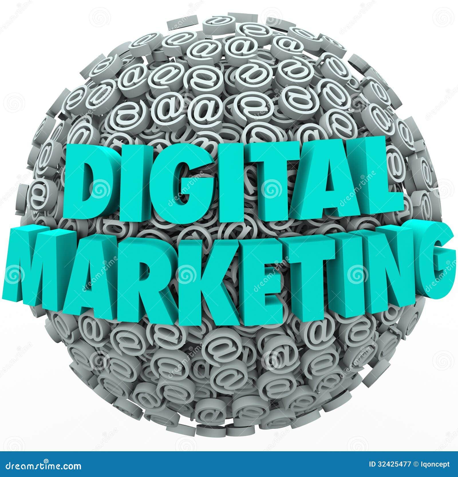 Esagerare online di web di campagna di Internet di vendita di Digital a Symbo