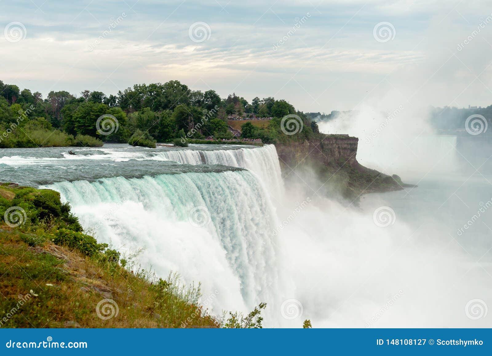 Esaminando del sud il cascate del Niagara