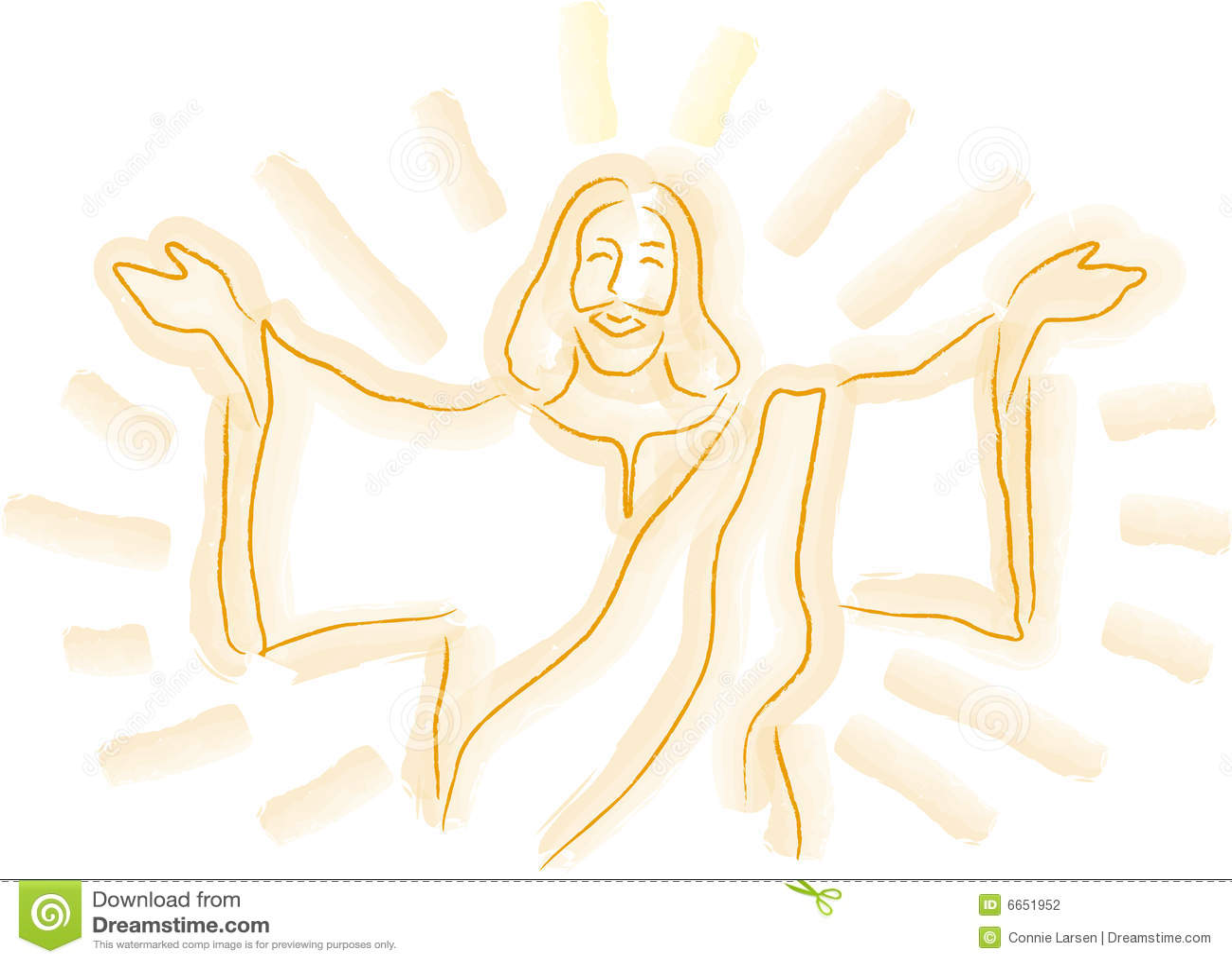 Esboco De Jesus Ilustracao Stock Ilustracao De Grafico 6651952