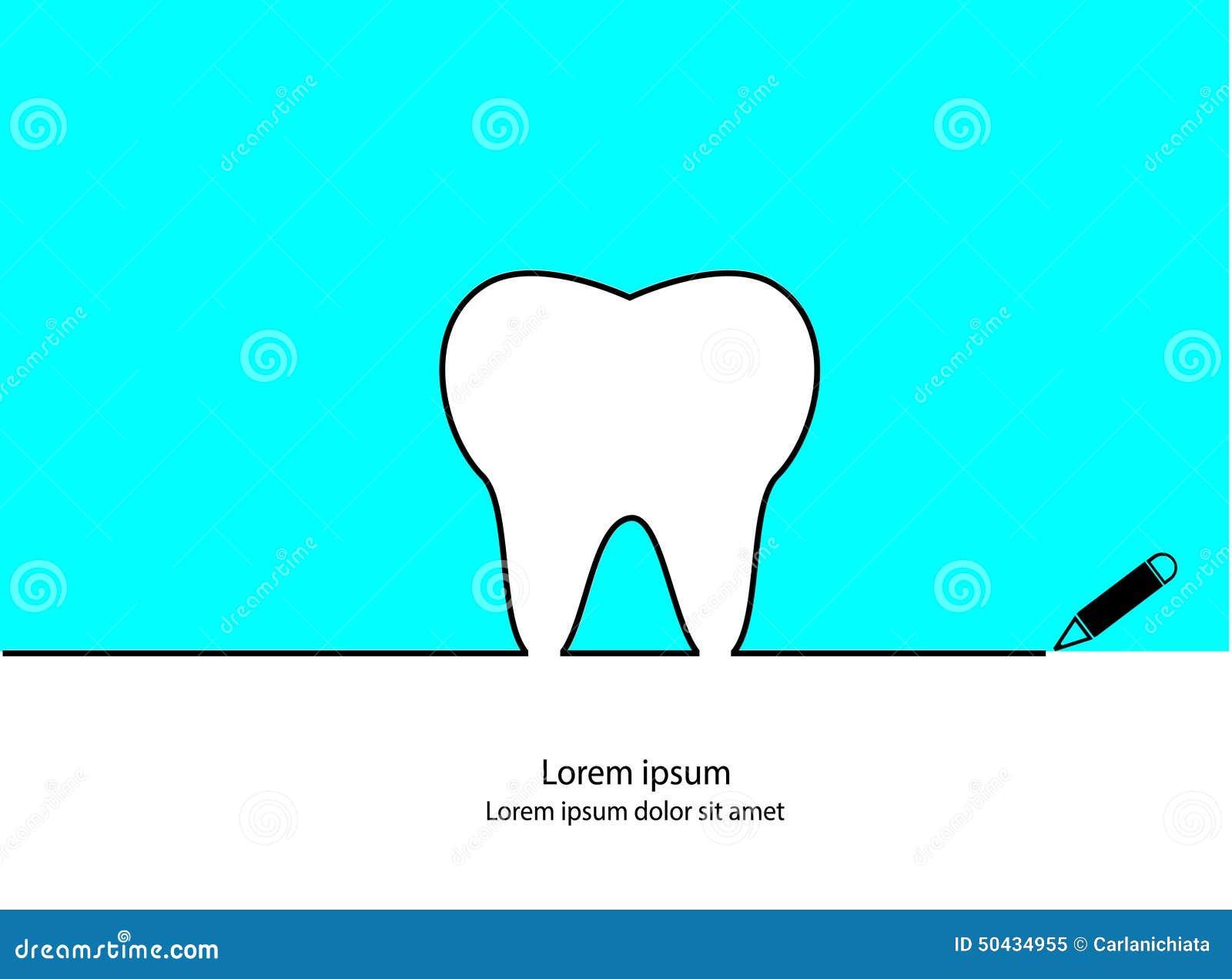 Esboço Do Dente Ilustração Do Vetor Ilustração De Simples 50434955