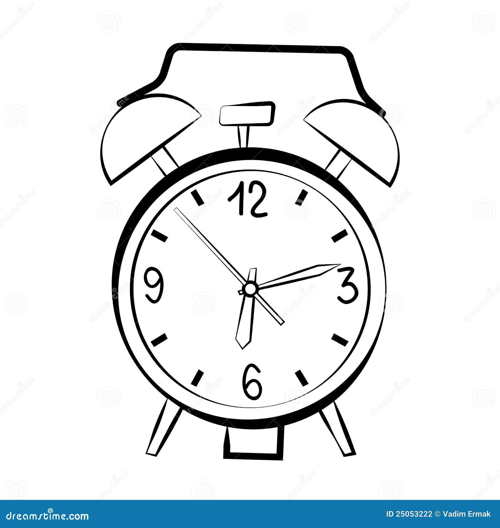 Esbo 231 O Do Despertador Ilustra 231 227 O Do Vetor Ilustra 231 227 O De