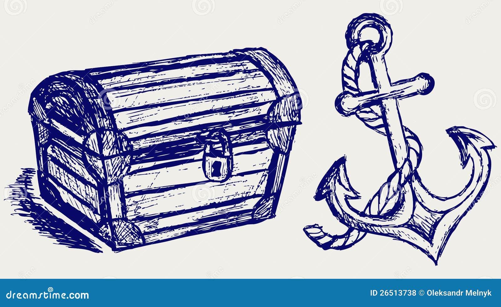 Esboço e escora da caixa