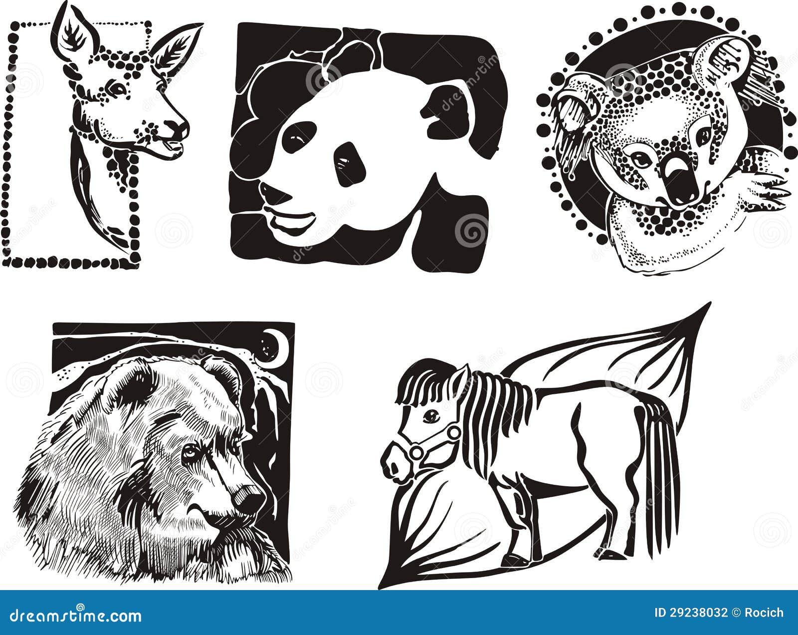 Download Esboços De Animais Variados Ilustração do Vetor - Ilustração de cavalo, animal: 29238032