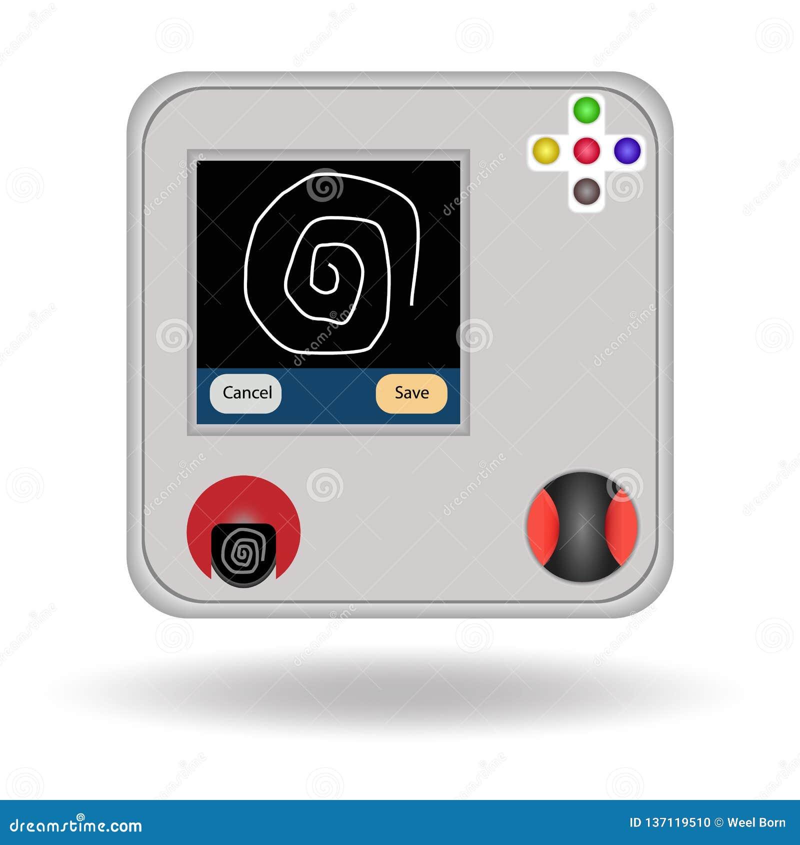 Escáner aislado, ejemplo del finger del objeto