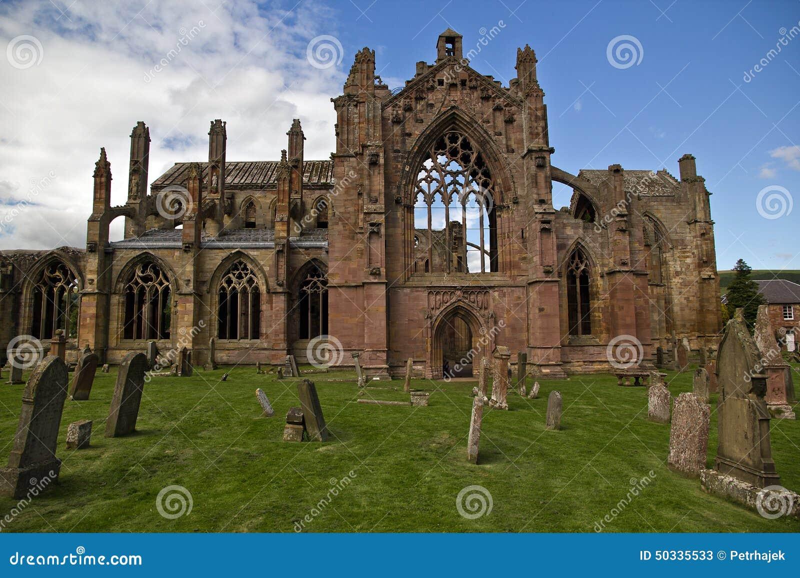 Escócia - abadia da melrose